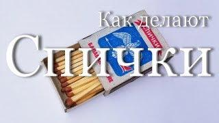 Как делают спички | How   matches are made