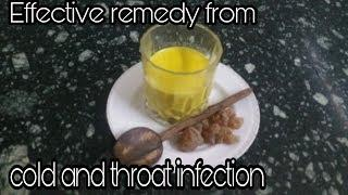 Soothing Golden Yellow Milk To Treat Cold Cough and Throat Infections #coughremedy #coldremedy