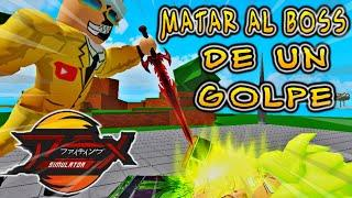 DERROTAR AL BOSS DE UN GOLPE EN ANIME FIGHTING SIMULATOR ROBLOX *BLOODLINES* ACTUALIZACION