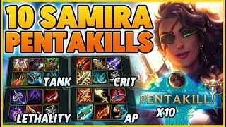 EVERY SAMIRA BUILD IN ONE VIDEO (THE MOVIE) - BunnyFuFuu | League of Legends