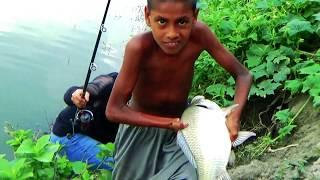 First Time Catla Fish Hunting Videos By Fish Hunter In Village Fishing Location