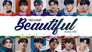 [SUB INDO] TREASURE - Beautiful ( Anime OST )  ( Color Coded Lyrics KAN_ROM_INA ) - MAS LIRIK