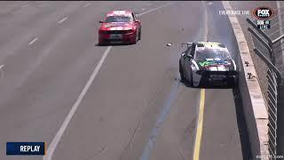 Aussie Racing Cars Championship 2019. Race 2 Adelaide Street Circuit. Crashes