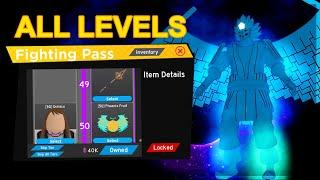 *ALL* LEVELS UNLOCKED IN *NEW* FIGHTING PASS SEASON 4 IN ANIME FIGHTING SIMULATOR ROBLOX