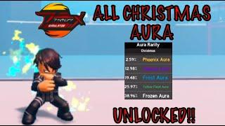 *ALL* Christmas *AURA* Unlocked showcase|How to get Aura| in Anime Fighting Simulator Roblox
