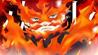 Endeavor's HELL FLAME Quirk in Anime Fighting Simulator Roblox