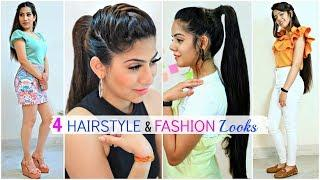 4 Easy HAIRSTYLE & FASHION Looks For Teenage/College Girls | #Partylook #Beauty #Anaysa