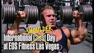 International Shoulders day at EOS Fitness in Las Vegas.