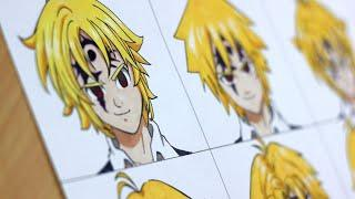Drawing Meliodas in a different anime styles