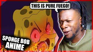 SpongeBob Anime Ep #1: Bubble Bass Arc (Original Animation) REACTION
